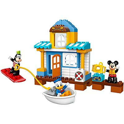 LEGO DUPLO Disney Junior Mickey & Friends Beach House, Preschool, Pre-Kindergarten Large Building Block Toys for Toddlers: Toys & Games