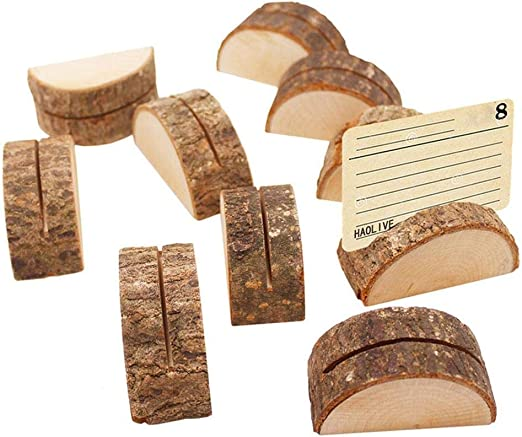 Bocotoer Madera para Tarjetas de Fotos Clip para Notas Fotos para ...