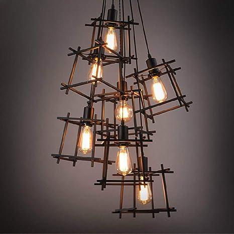 Lightoray Iluminación colgante de luces de techo Hierro ...