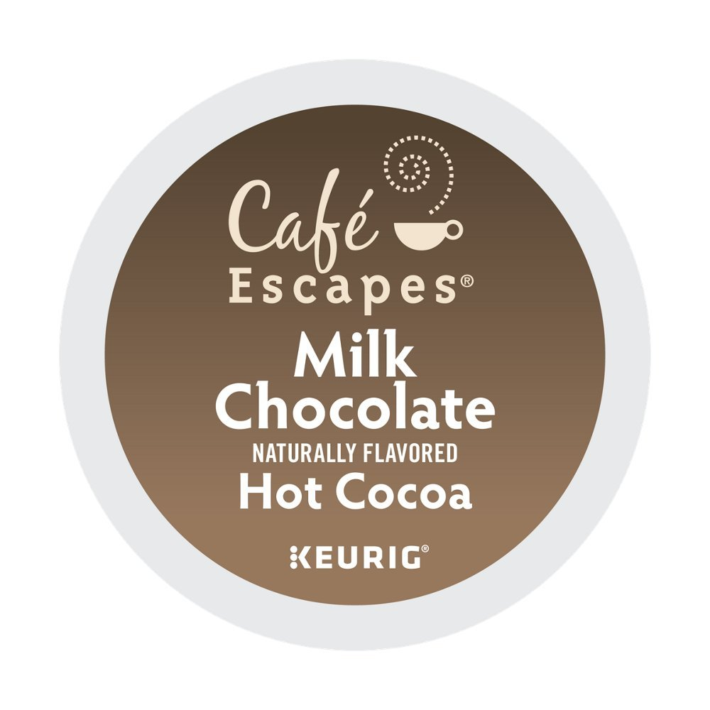 Cafe Escapes Milk Chocolate Hot Cocoa 48 K-Cups for Keurig Brewers