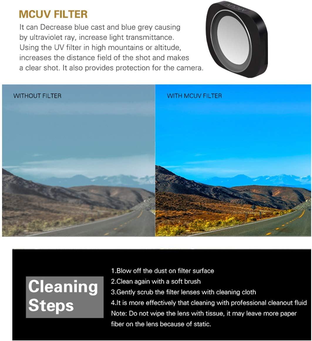 Ngaantyun MCUV+CPL+ND4+ND8+ND16+ND32 Aluminium Optical Glass Camera Lens Filters Set for DJI OSMO Pocket