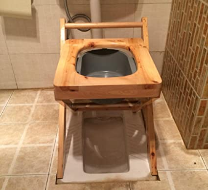 Amazon.com: Full Cedar Toilet Seat Stool Light Portable Foldable ...