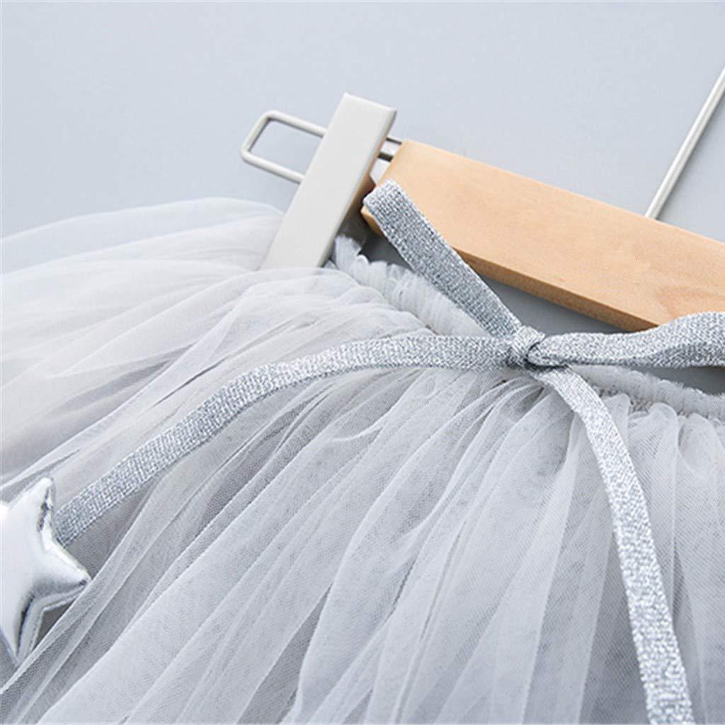 Vestido de Beb/és Ni/ña ❤️ Zolimx Ropa Punto de Impresi/ón de Camisa y Falda de Tul Vestidos Tutu Muchacha Encantadora Ropa de Bebe Ni/ña Verano 2019