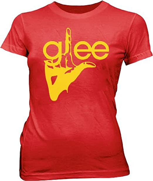 2db9a0ca7 Amazon.com: Glee TV Show Logo Join the Club Red Juniors/Ladies T ...
