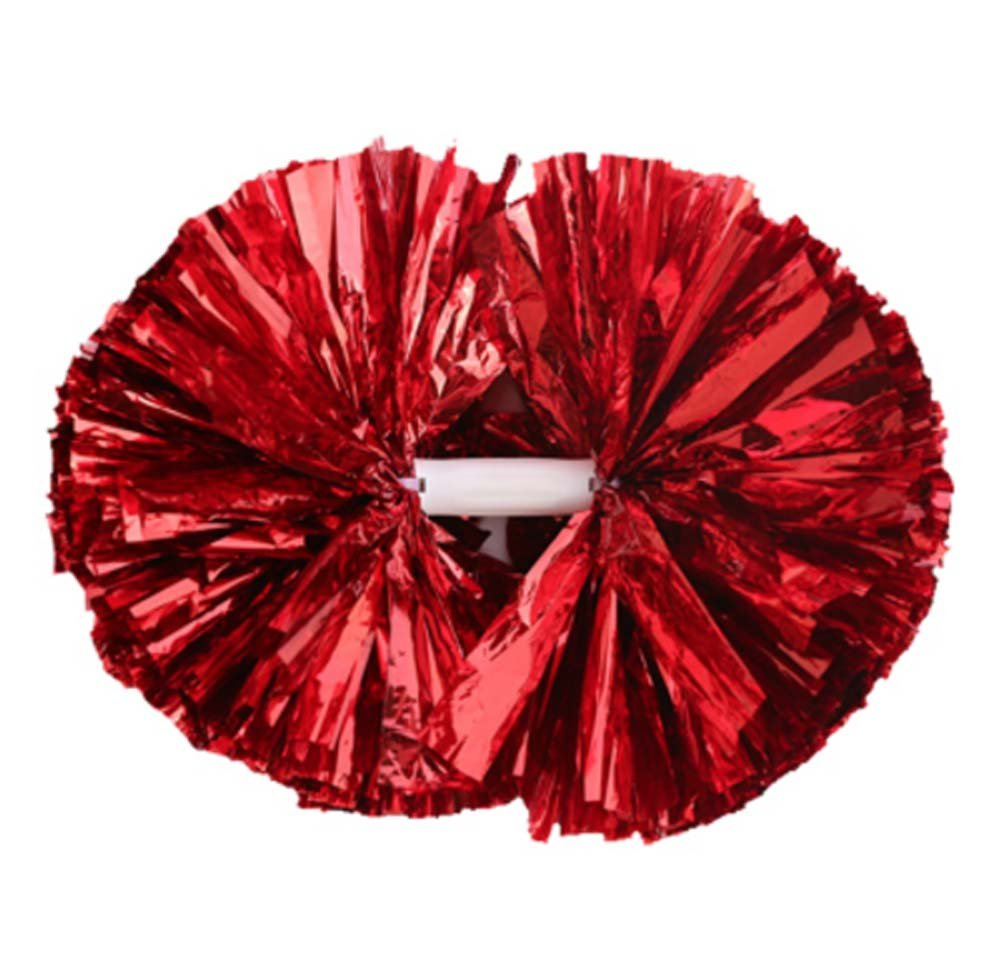 2 Of Pom Poms Cheerleading Poms for School Competition Supplies,Red Dragon Sonic
