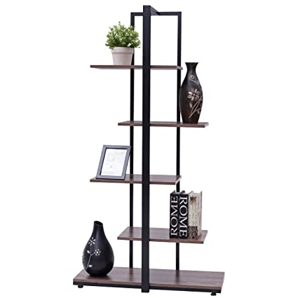 New Bookcase 60quot Modern Open Concept Display Etagere Shelf Bookshelf Tower