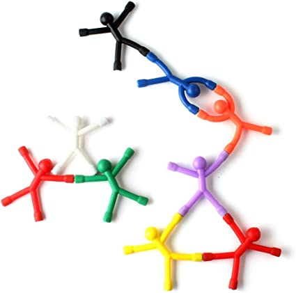 8Pcs Mini Magnet Q-Man Novelty Awesome Gift Cute Rubber Magnet Man DIY Toy EC