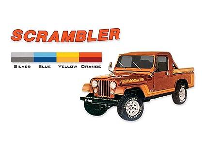 Scrambler 1981 1982 Jeep Cj8 Decals Stripes Kit Blue