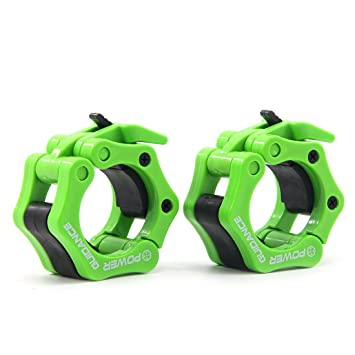 POWER GUIDANCE Weightlifting Barbell Clamp Collar by Quick Release Pair of ... Crosstrainer Fitness & Jogging