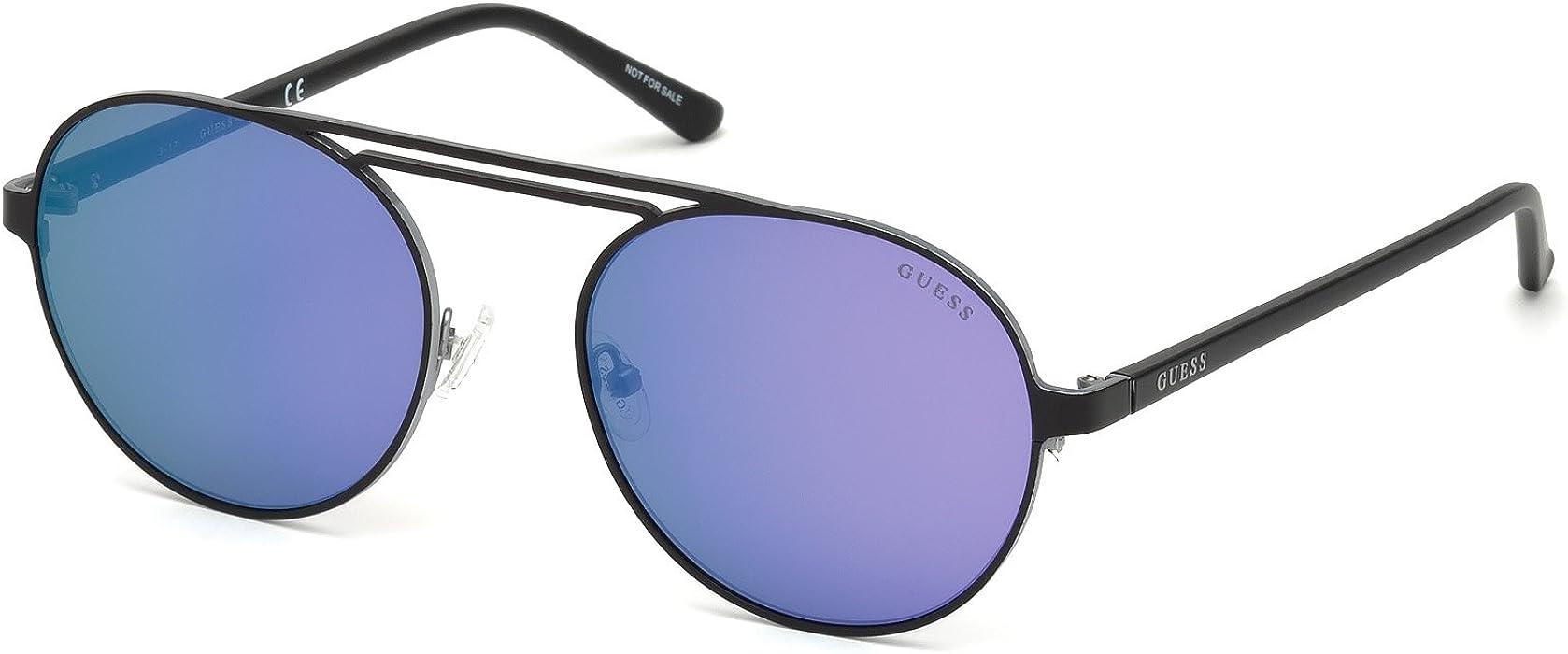 4f9379de9a01 Amazon.com  GUESS Gu3028 Round Sunglasses matte black   mirror ...