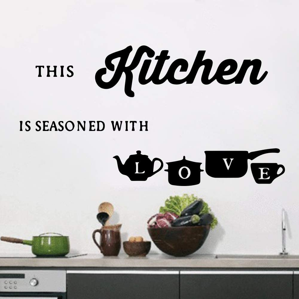 Pegatinas de pared para la decoración de la cocina Diy Pvc Accesorios de decoración del hogar amarillo L 43 cm X 74 cm: Amazon.es: Bebé