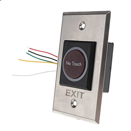 Infrared Exit Release Button with LED Back Light For Access Control Rectangular
