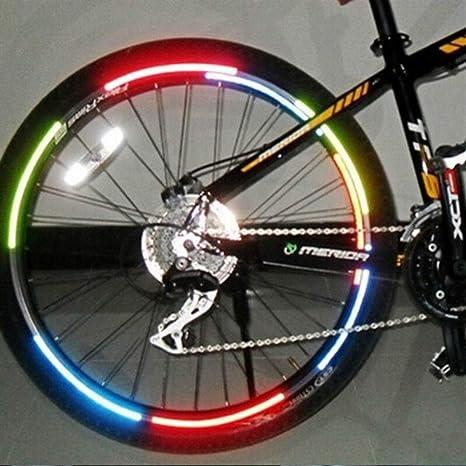 ZANGAO Cinta de luz Fluorescente Que emite la Bici Pegatinas Rueda Reflectante Correa de la Cinta Adhesiva de Bicicletas Lamer Pegatinas de Bicicletas de montaña Accesorio (Color : Blue): Amazon.es: Deportes y