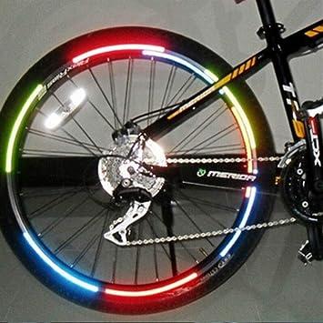 ZANGAO Cinta de luz Fluorescente Que emite la Bici Pegatinas Rueda ...