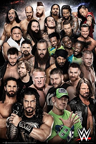 WWE Superstars 2018 - Wrestling Poster (The