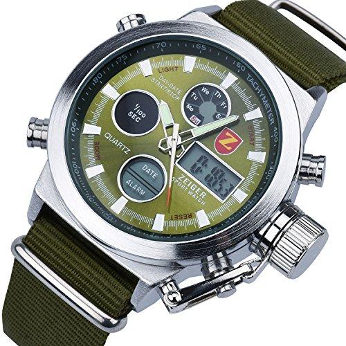Zeiger Men's Watch Sport Digital Times Waterproof Wrist W...