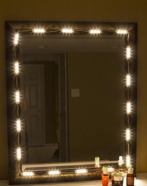 JOJOO Vanity Mirror LED Light DIY Cosmetic Makeup Mirror Lamp, 10ft ...