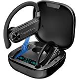 Sports Wireless Earbuds, Soundnova Airsport2-2nd Gen 60H Premium Bluetooth V5.1 Sport Headphones with LED Display Charging Ca