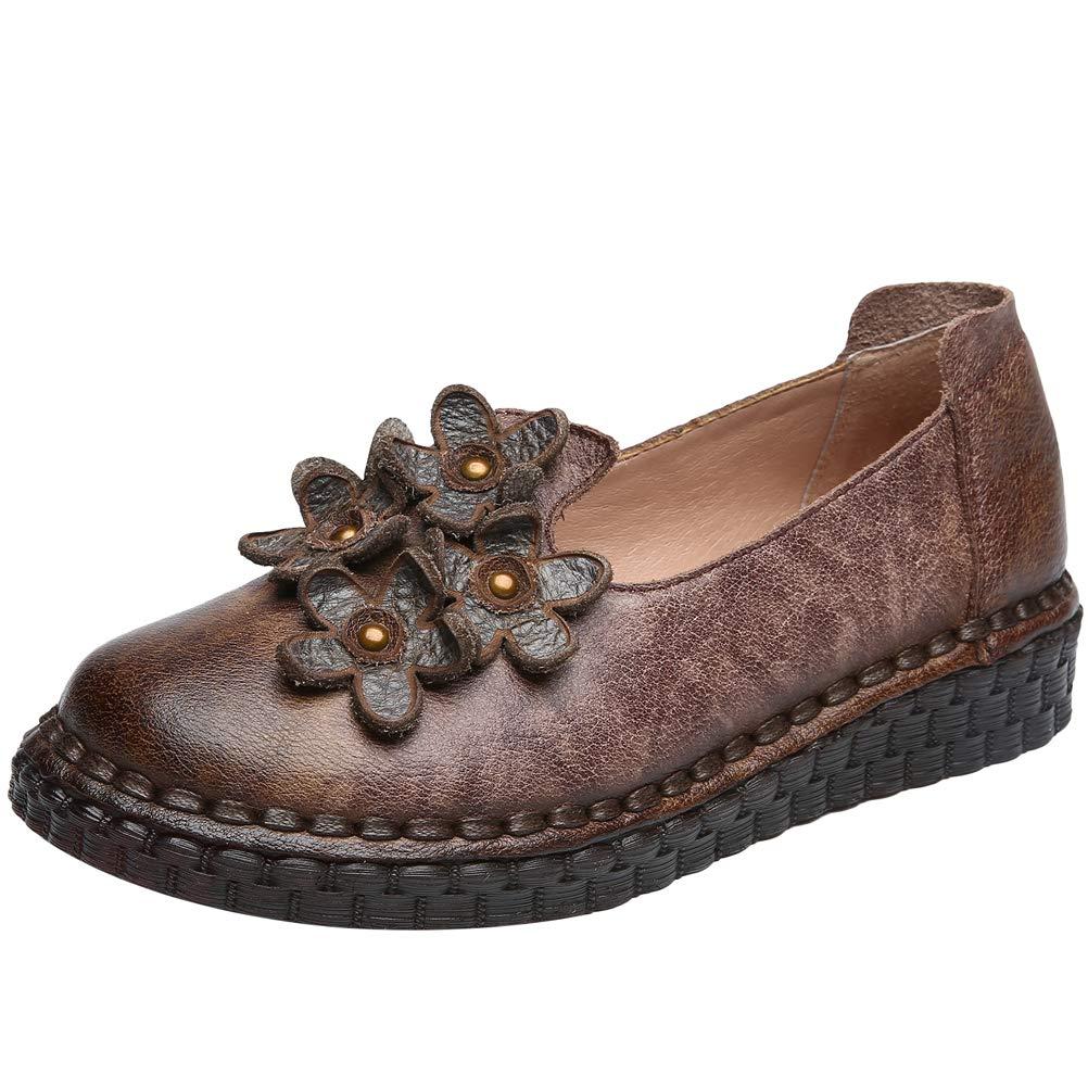 Mallimoda Damen Herbst Low-Top Flatschuhe Casual Blumen Low-Top Herbst Schuhe Lila 9d5476