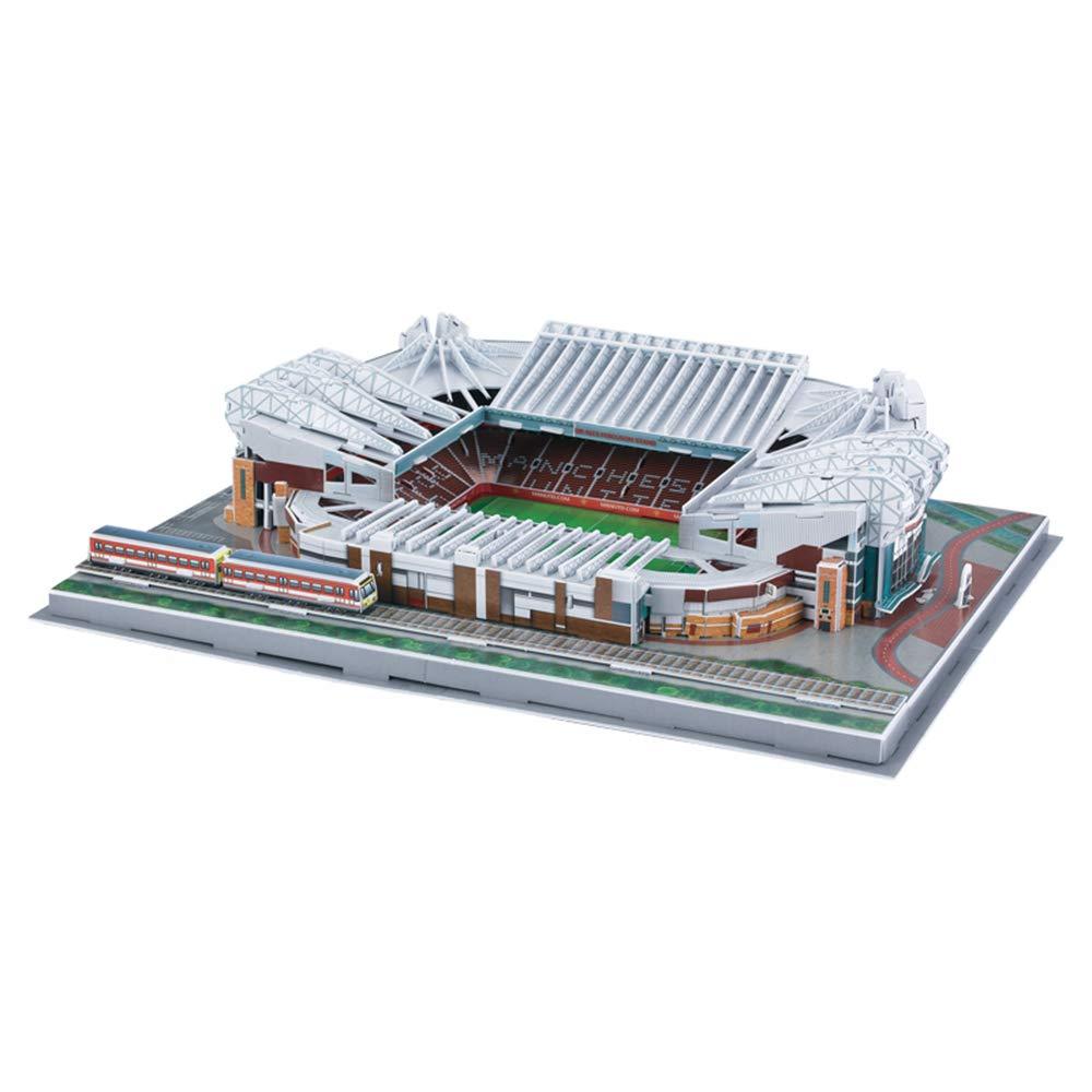 EP-model Sports Stadium Modello 3D, Manchester United Old Trafford Modello di Corso Fans Souvenir DIY Puzzle, 3 Pezzi Set, 16 x 12  x 4