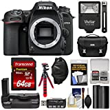 Nikon D7500 Wi-Fi 4K Digital SLR Camera Body 64GB Card + Battery + Grip + Case + Flash + Flex Tripod + Strap + Filter Kit