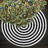 "AHOOCUSTOM 36"" Black and White Annual Rings Mardi"