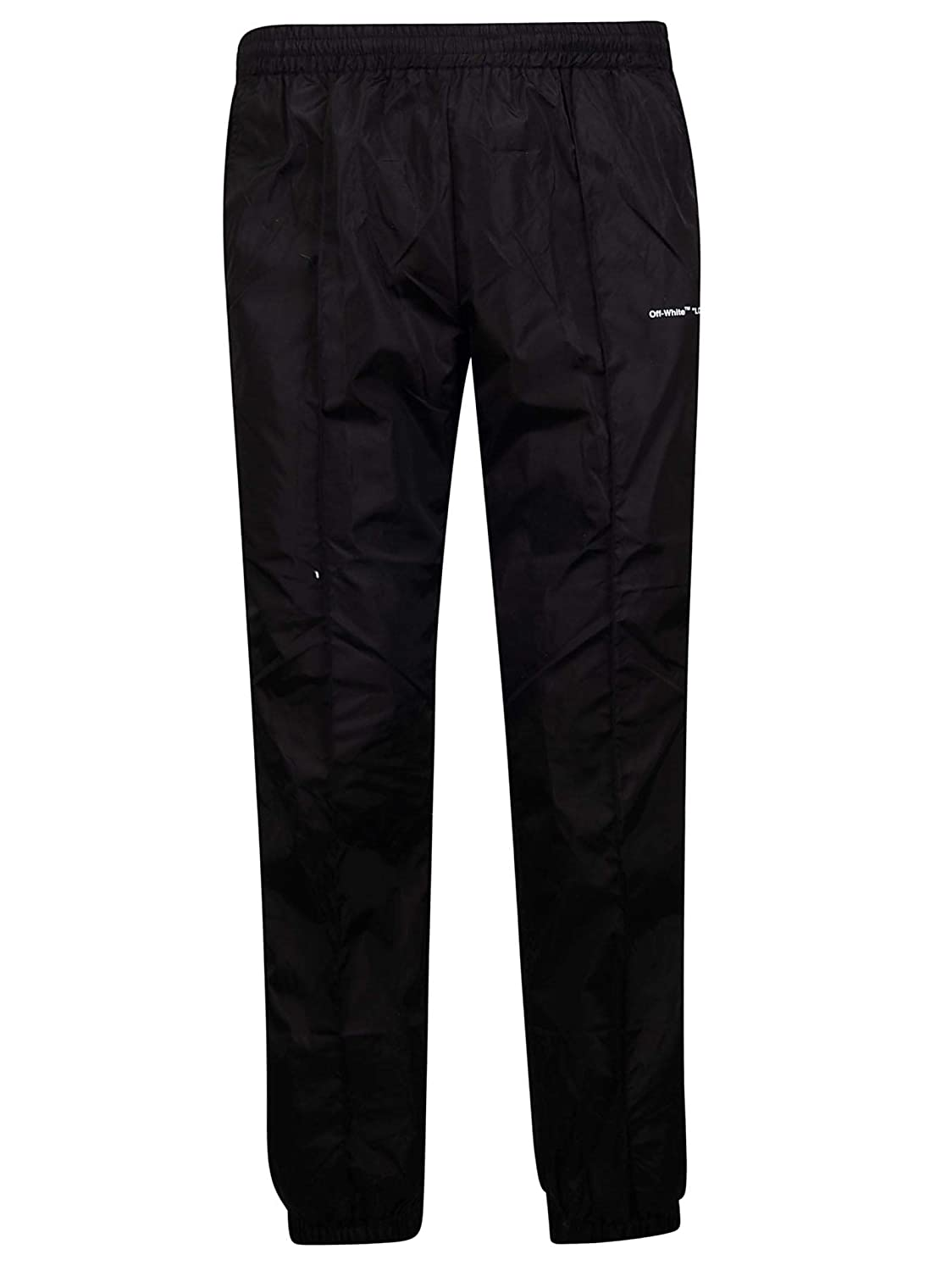 Brand Size L OFFWHITE Men's OMCA090S19A230011000 Black Polyester Joggers