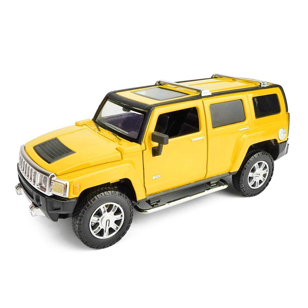 Model Car SUV 1  24 Humming H3 Lega Modello Auto Giocattolo Auto Fuoristrada Veicolo Die Casting