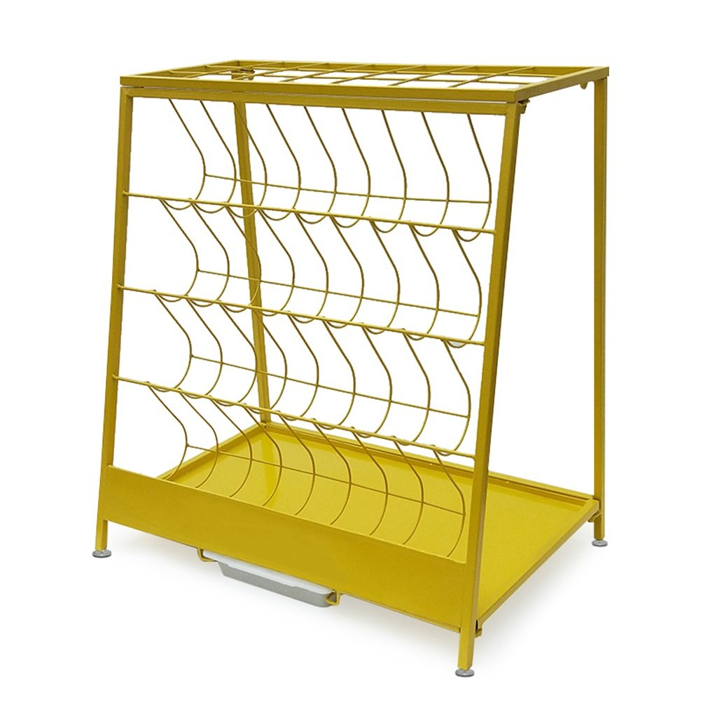 F ZHPRZD Iron Umbrella Stand, Hotel Mall Office Home Storage Shelf, Landing Umbrella Stand, Trapezoidal 60  36  67cm Umbrella Stand (color   B)