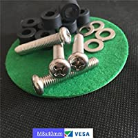 SES.CO M8 40mm TV Mount Bracket Screws/Bolts with Washers and Spacers for 41 & Larger Samsung Vizio LG Flat Screen TVS
