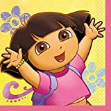 Dora the Explorer Beverage Napkins - Birthday and Theme Party Supplies - 16 per Pack - From Fun365