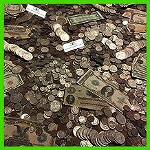 ESTATE LOT OLD US COINS MONEY HOARD SET $ GOLD SILVER BULLION HALF POUND LB 2 Cent Pieces, 3 Cent Pieces, Walking Liberty Halves, Franklin Halves , Mercury Dimes, Peace Dollars ,Dimes, Washington