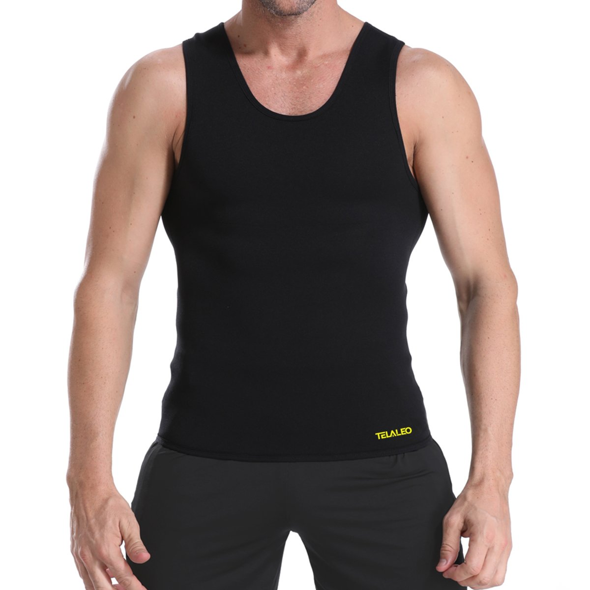 7f2c2cc603a TELALEO Mens Sauna Sweat Vest for Waist Trainer
