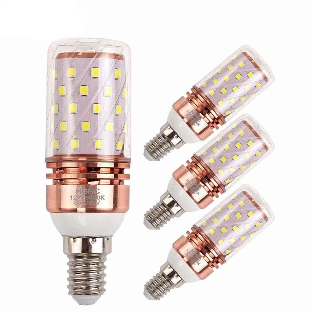 Bomnilla LED E14 12W Equivalente 100W incandescente bombillas, 6000K blanco frío 1000LM AC85-265V, Lámpara de vela decorativa E14, 4 Piezas: Amazon.es: ...