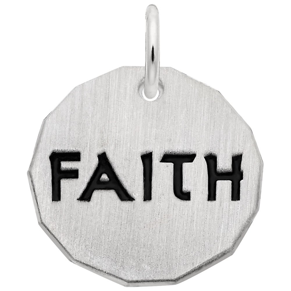 Charms for Bracelets and Necklaces Faith Charm Tag
