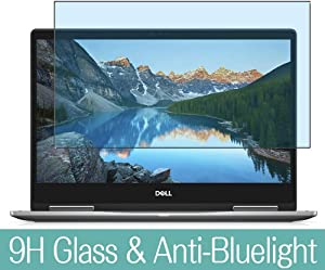 """Synvy Anti Blue Light Tempered Glass Screen Protector for Dell Inspiron 13 7000 2 in 1 7373 2017 13.3"""" Visible Area 9H Protective Screen Film Protectors"""