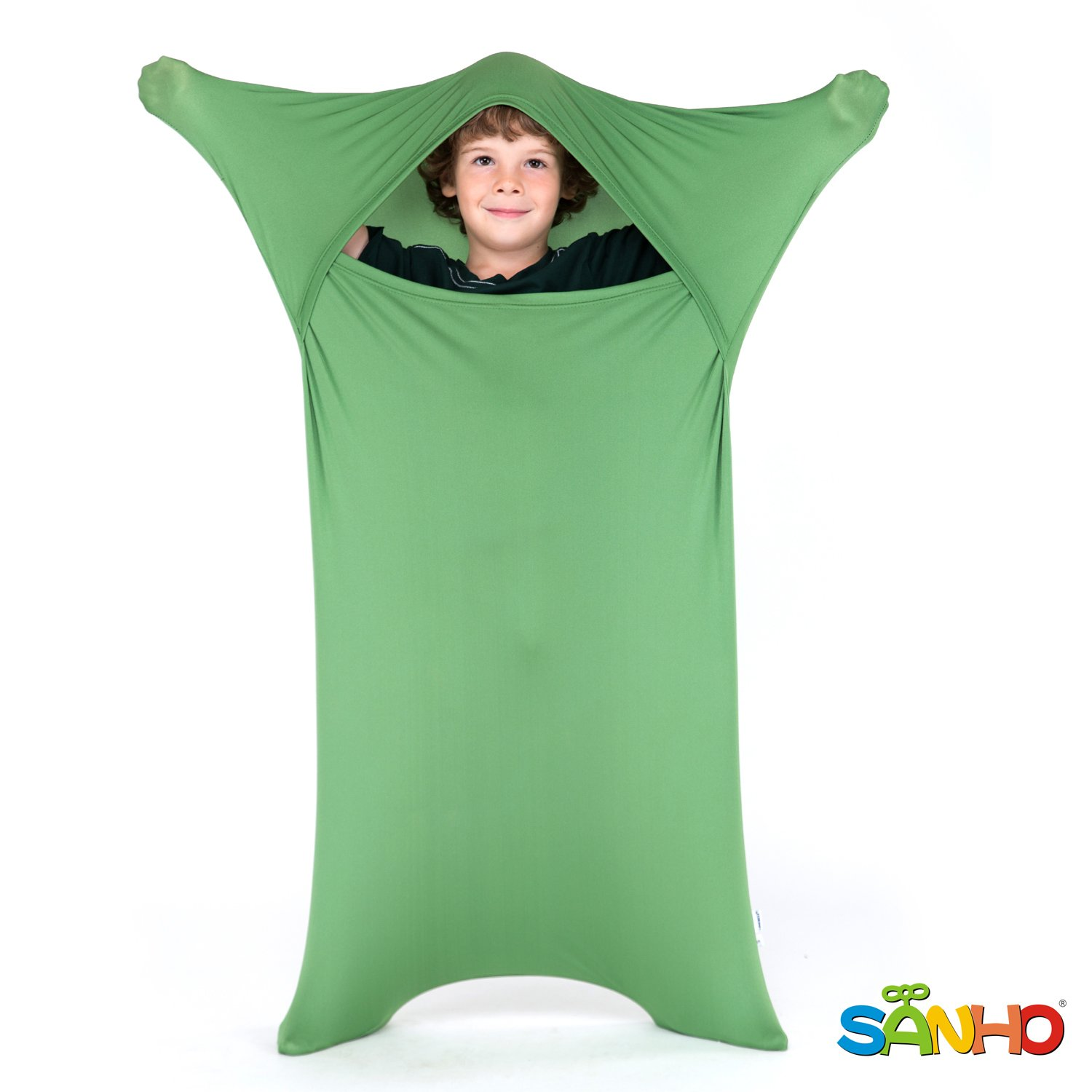 SANHO Premium Sensory Sock,Updated Version, Large, 70'' L x 28'' W, Good for Height: 63''+ Green