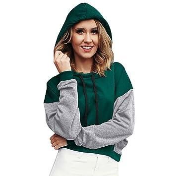 5c87b8977dd Women s Coats Winter Besde Women s Plus Size Fashion Casual Warm  Lightweight Outwear Patchwork Loose Sweatshirt Pullover