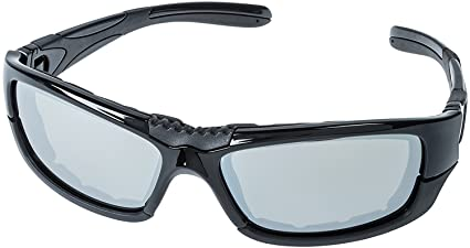 256357bb86 Motorcycle Riding Sunglasses with Foam - for Men and Women - Convertible  Sidearms to Riding Goggles