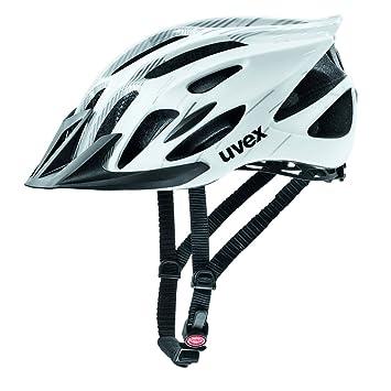 Uvex 4109660217 Casco Ciclismo MTB, Unisex Adulto, Blanco/Negro, M