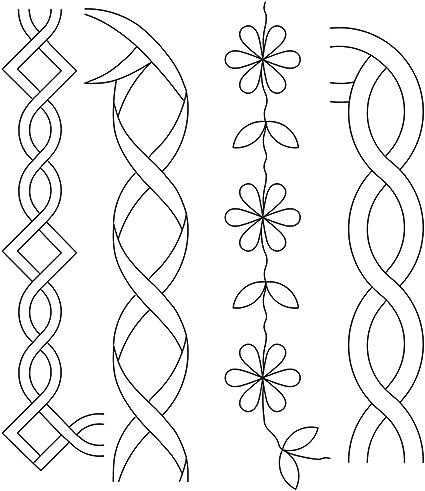 Free quilting stencils designs   quilting stencils > floral & leaf.