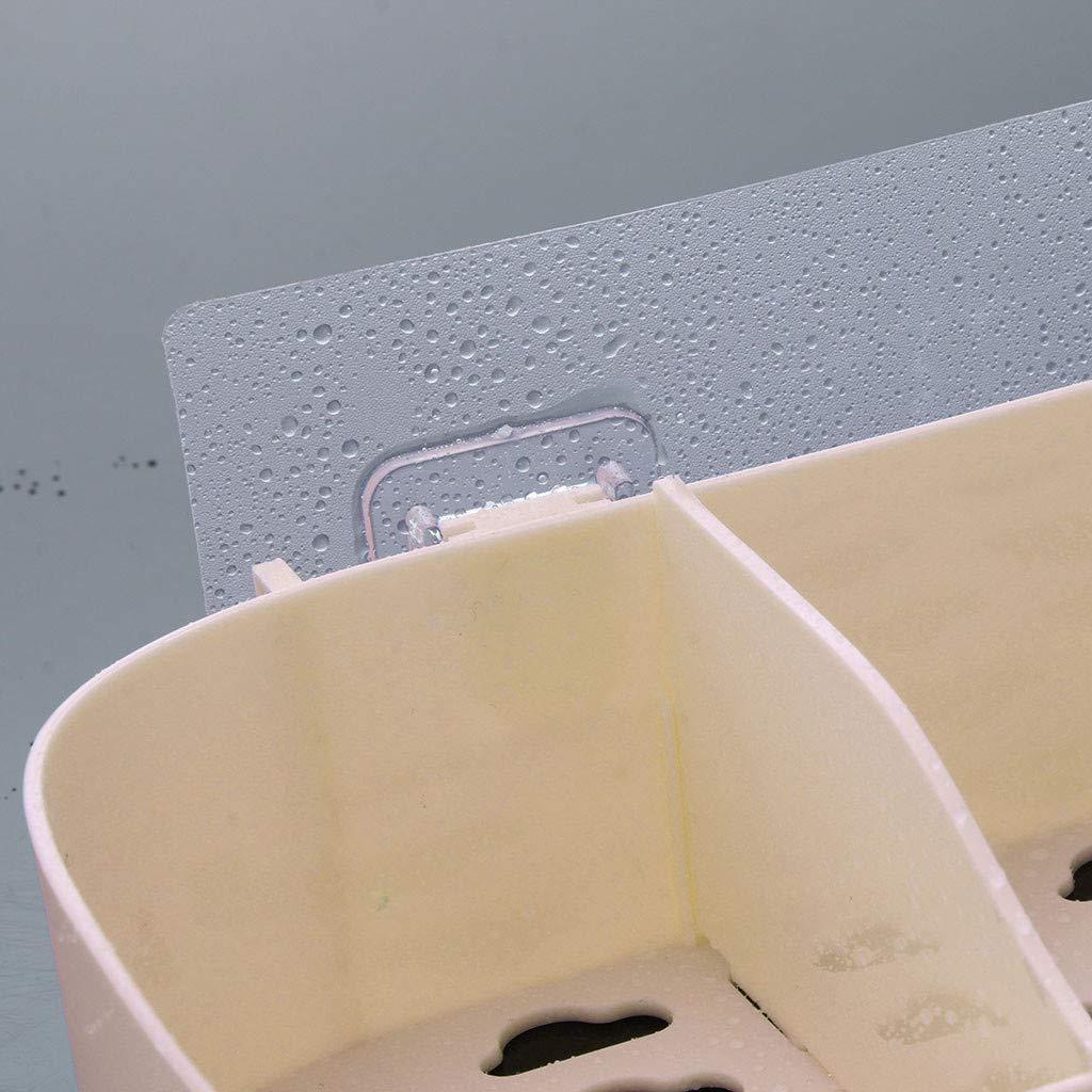 AGUIguo Plastic Bathroom Kitchen Corner Storage Rack Organizer Shower Shelf (Beige) by AGUIguo bathroom products (Image #7)