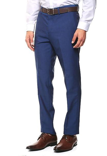 e31260baf8a06 LOB- Pantalón de Vestir Skinny Pantalones para Hombre Azul Talla 33 ...