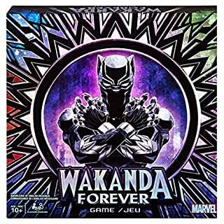 Spin Master Games Marvel Wakanda Forever, Black Panther Dice-Rolling Game for Families, Teens and Adults, Multicolor, Model: 6054042