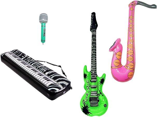 SUPVOX 4 Piezas Instrumentos Inflables Globos de Piano Saxofón Guitarra para Niños: Amazon.es: Hogar
