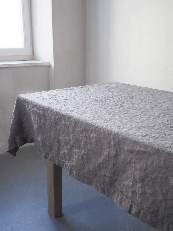 Linen Tablecloth Natural Grey 1.10 m x 1.10 m
