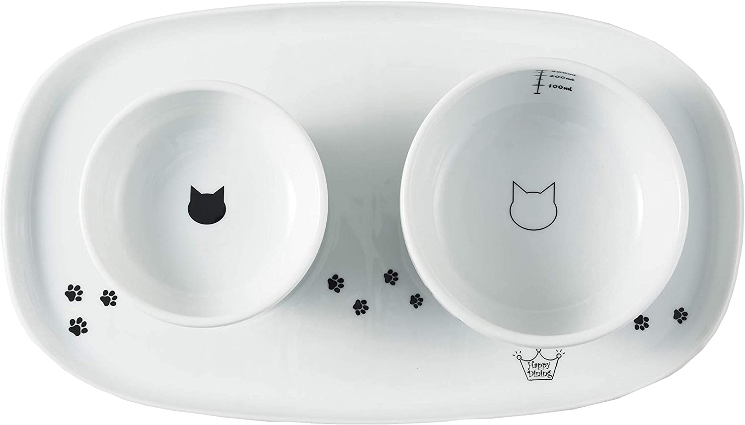 Necoichi Raised Cat Food Bowl, Stress Free, Backflow Prevention, Dishwasher and Microwave Safe, Lead & Cadmium Free, Made to FDA/EC&ECC European Standard (Cat, Complete Set)