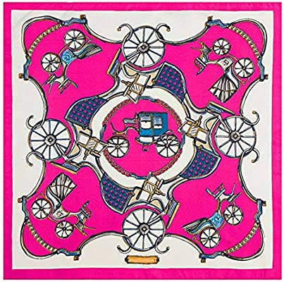GSGJWJ 100% Sarga Bufanda De Seda Mujeres Plaza España Silla Bolsa De Impresión Pañuelo Para El Cuello De Lujo Foulard Pequeño Pañuelo Señora Bufandas De Seda-Transparent: Amazon.es: Amazon.es