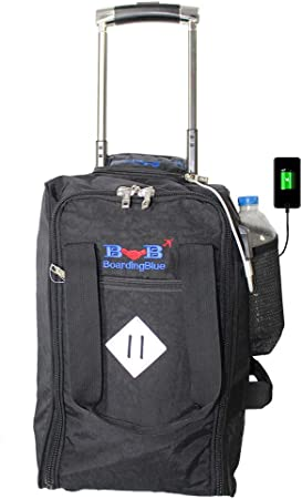 Amazon Com 17 Rolling Personal Item Under Seat Duffel For United Airlines Black Travel Duffels,Natural Mosquito Repellent For Yard Beer Mouthwash Epsom Salt