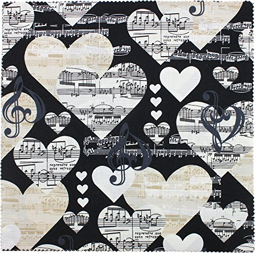 Music Fabric - Benartex THE MUSIC IN ME 10-inch Precut Squares Cotton Fabric Quilting Assortment Layer Cake